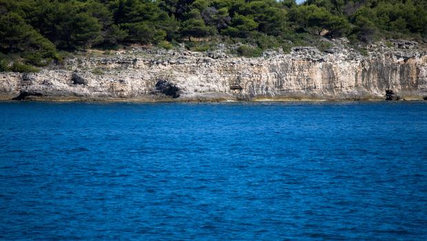 Adriatic sea coast in Croatia. Summer holiday vacation concept