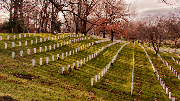 Graves at the Arlington National Cemetery
