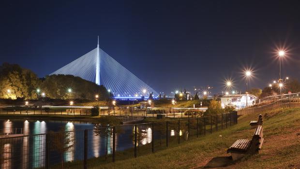 Serbia Belgrade New Cable Bridge