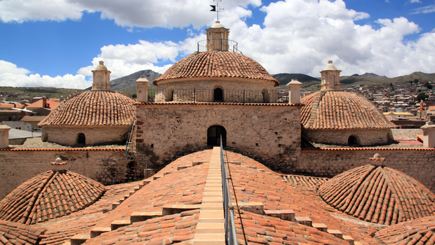 View from the roof of San Fransisco church in Potosi, Bolivia