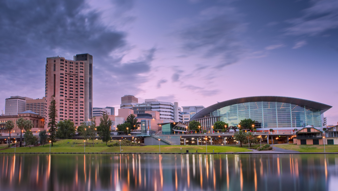 The River Torrens in the city of Adelaide