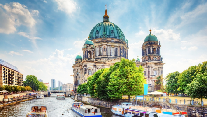 Berlin Cathedral. German Berliner Dom. A famous landmark on the Museum Island in Mitte, Berlin, Germany.