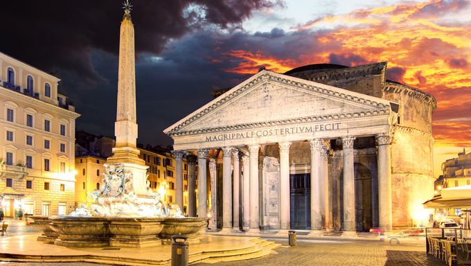 Pantheon - Rome at sunset