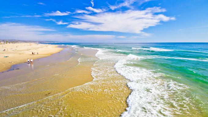 San Diego beach.