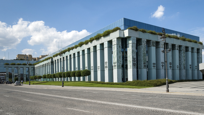 Supreme Court of the Republic of Poland building in Warsaw, Poland