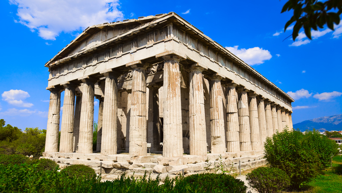Ancient Agora in Athens, Greece.