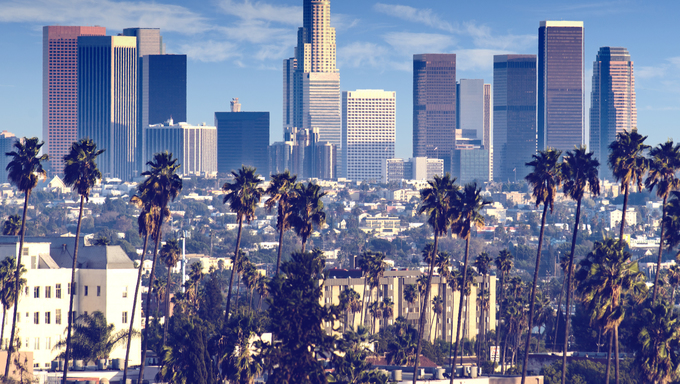 California City Skyline of Los Angeles.