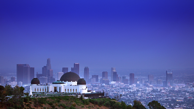 Griffith Observatory in Los Angeles, California.