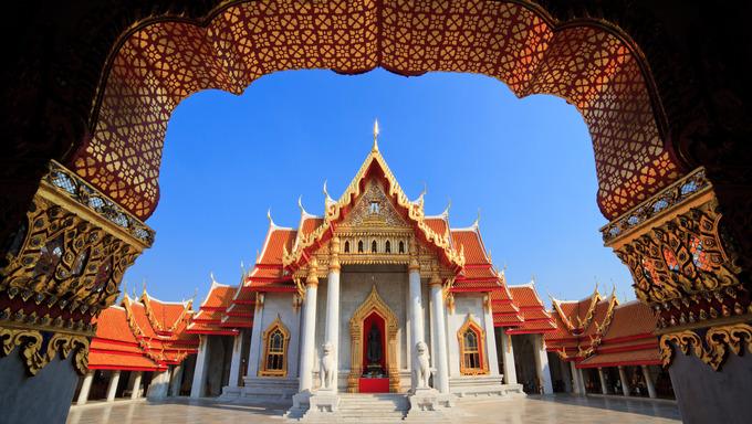 The Marble Temple(Wat Benchamabophit ), Bangkok, Thailand