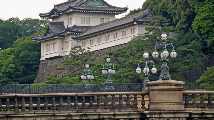 The imperial palace in Tokyo, Japan.
