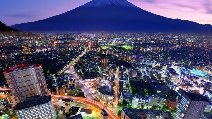 Tokyo and Mt. Fuji.