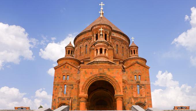 Saint Hovhannes church in Abovyan city,Armenia.