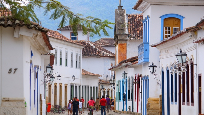 The Old Town of Paraty (state of Rio de Janeiro). The colonial town dates back to 1667 and is considered for inclusion on UNESCO World Heritage List.