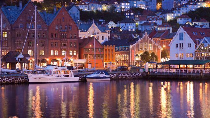 Scenery of Bryggen in Bergen, Norway