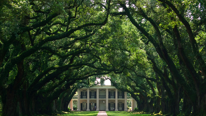 Oak Alley Plantation in Louisiana.