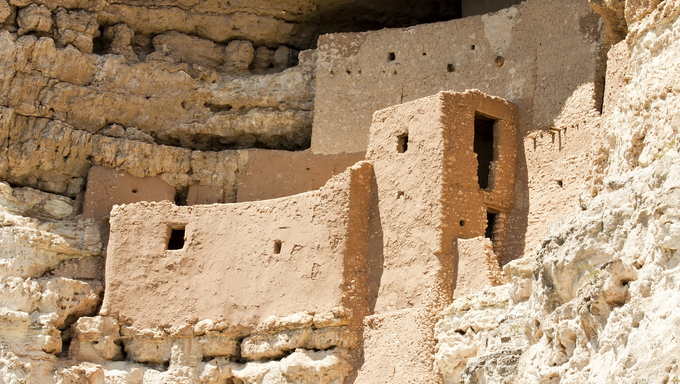 Montezuma castle Pueblo Village Indian Ruins, Arizona.