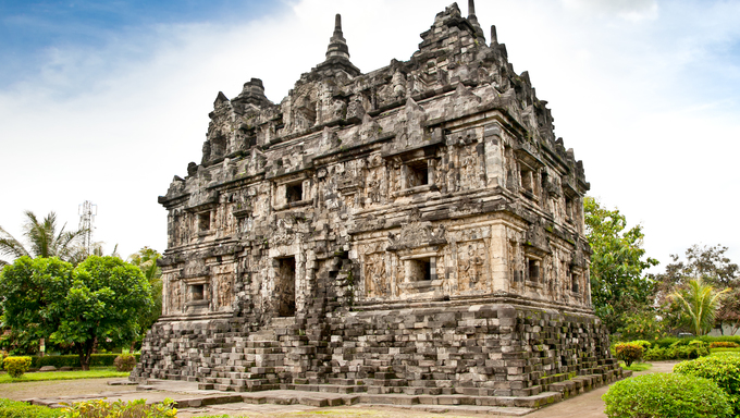 Candi Sari  (also known as Candi Bendah) buddhist temple in Prambanan valley on  Java. Indonesia. Built around 778 a.d. it supposedly is the oldest temple among those built in the Prambanan valley on Java. Indonesia.
