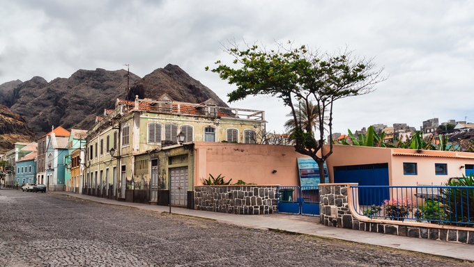 Ribeira grande, a small village in Cape verde island of Sao Antao