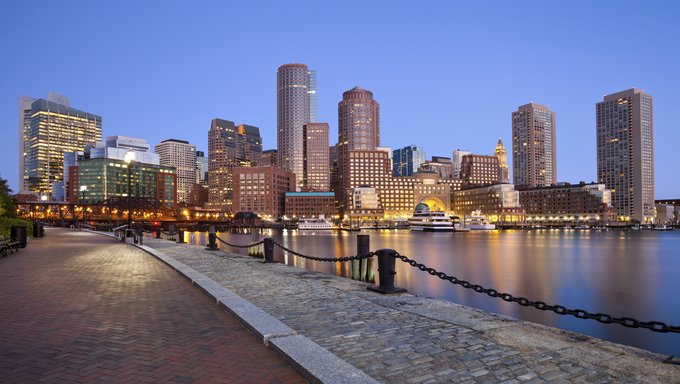 A view of the Boston skyline.