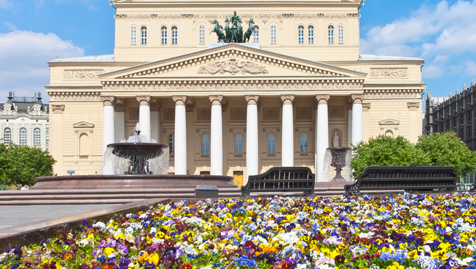 Bolshoi Theatre in Moscow, Russia.