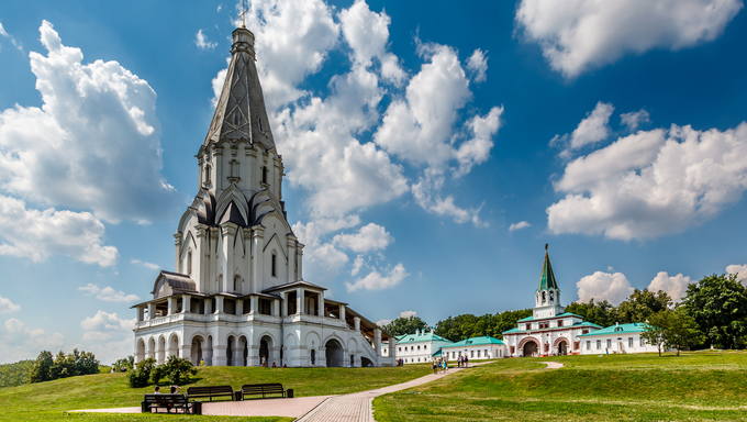 Church of the Ascension in Kolomenskoye, Moscow, Russia.