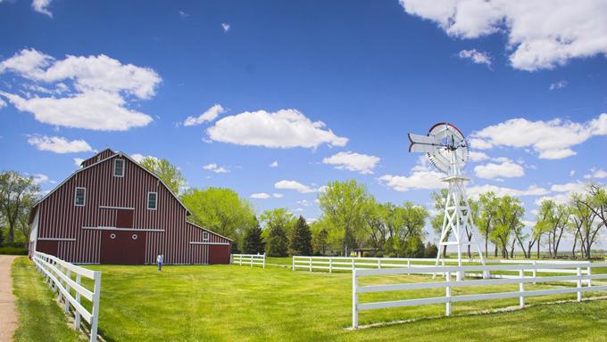 Farm shed of the famous Buffalo Bill near North Platte, Nebraska.