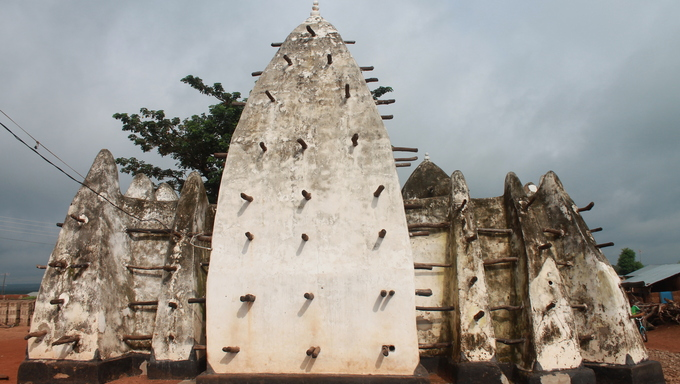 A 15th Century Mosque and the Road from Tamale to Cape Coast.