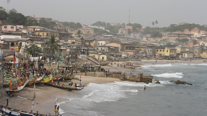 View of Cape Coast in Ghana.
