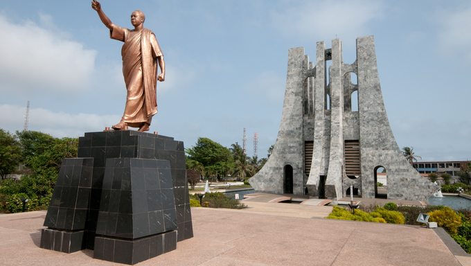 Kwame Nkrumah Memorial Park (KNMP) is a National Park in, Accra, Ghana named after Osagyefo Dr. Kwame Nkrumah, the ''founding father'' of Ghana.  It is also a mausoleum with his body and that of his wife buried within the stone structure.