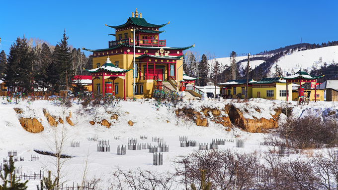 Devazhin-dugan in the Verhne-Beryozovsky Datsan (buddhist monastery), Buryatia, Russia