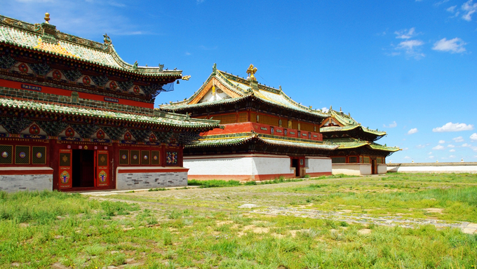 Buddhist temple in Kharkhorin, Mongolia
