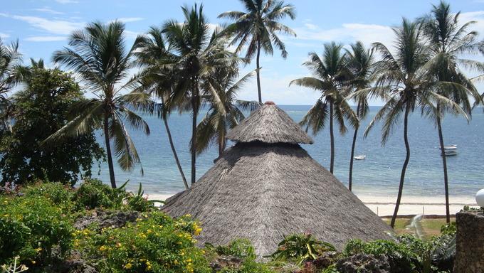 A luxury hotel on the coast near Mombasa, Kenya.