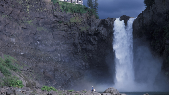 USA Washington State, Snoqualmie Falls, attraction east of Seattle.