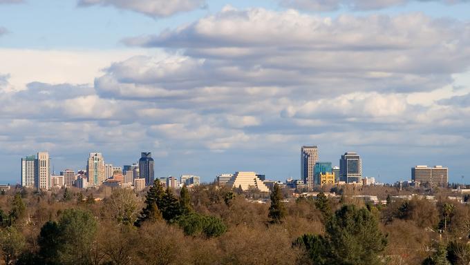 Big clouds over Sacramento.