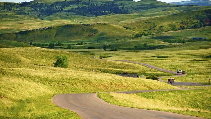 South Dakota Landscape - Custer Park near Rapid City. South Dakota Black Hills.