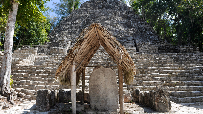 Coba Mayan Ruins near Cancun Mexico.