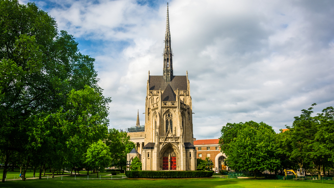 Heinz Memorial Chapel, at University of Pittsburgh, in Pittsburgh, Pennsylvania.
