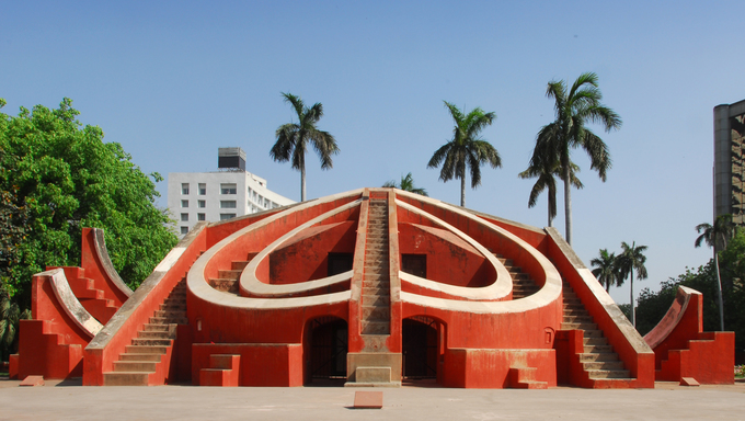 Jantar Mantar is an observatory consisting of masonry-built astronomical instruments. 