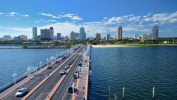 A view of St. Petersburg, Florida.