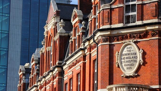 Birmingham in West Midlands, England. Birmingham Midland Eye Hospital.