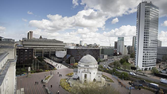 Birmingham, England, Centenary Square, city center.