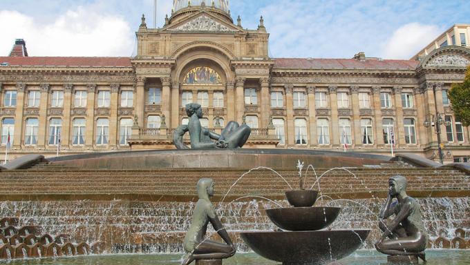Victoria Square in Birmingham, England, United Kingdom.