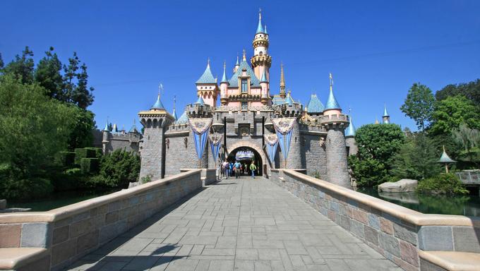 ANAHEIM, CALIFORNIA - September 16, 2009 - The Disneyland California Sleeping Beauty Castle.