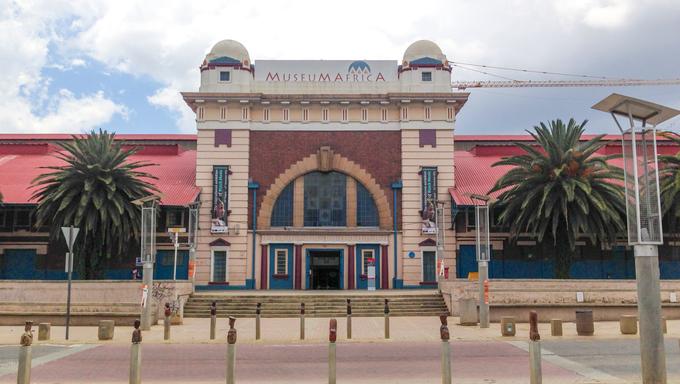 JOHANNESBURG, SOUTH AFRICA - DECEMBER 18, 2012: MuseuMAfricA Building in Newtown, Johannesburg, South Africa. Museum Africa is Johannesburg's social and cultural history museum.