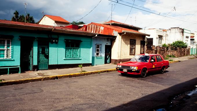 Street in San Jose, capital of Costa Rica.