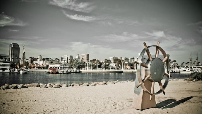 View of the downtown Long Beach California marina.