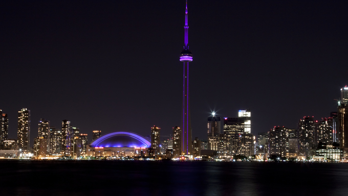Downtown Toronto, Canada with CN tower.