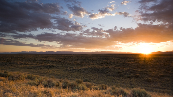 Sunset on Prairie - somewhere in Idaho, USA.