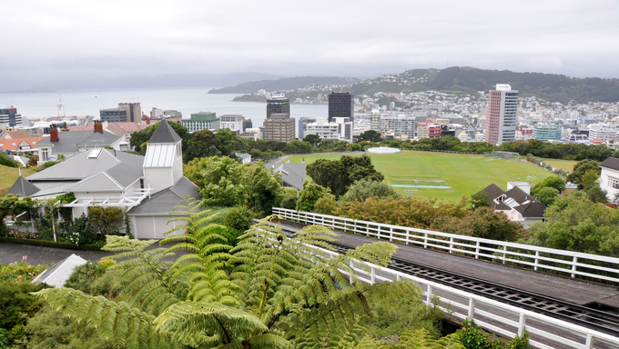 Aerial view of Wellington, New Zealand.