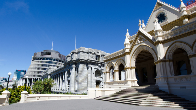 Parliament library, Wellington, New Zealand.